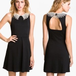 Free People Lace Collar Dress, L